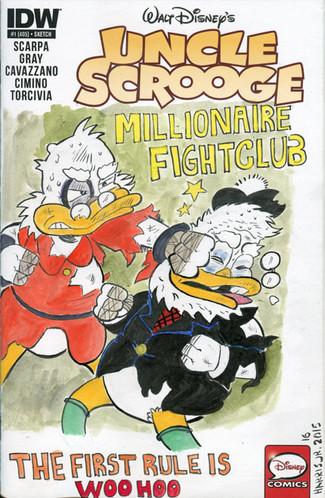 Uncle Scrooge Sketch Cover