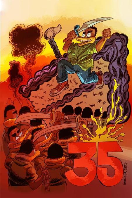 """35"" Comic cover"
