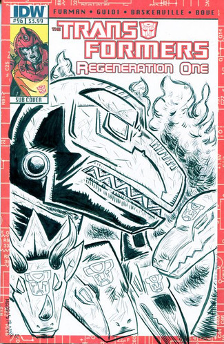 Tranformers Dinobots Sketch Cover