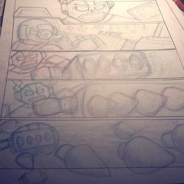 35 Process shot, pencils