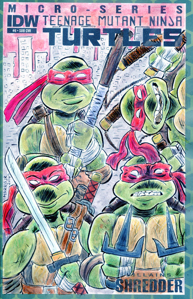 TMNT Turtles Sketch Cover