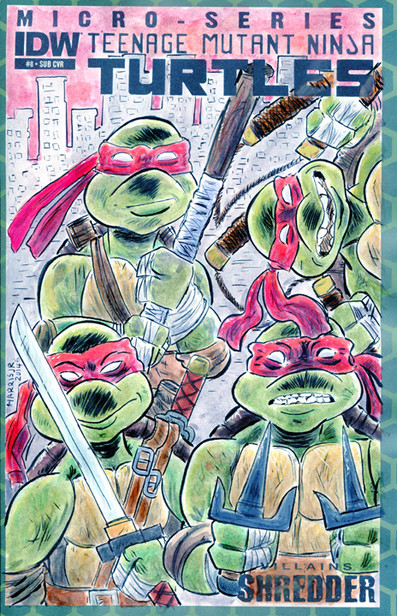 TMNT Turtles Sketch Cover