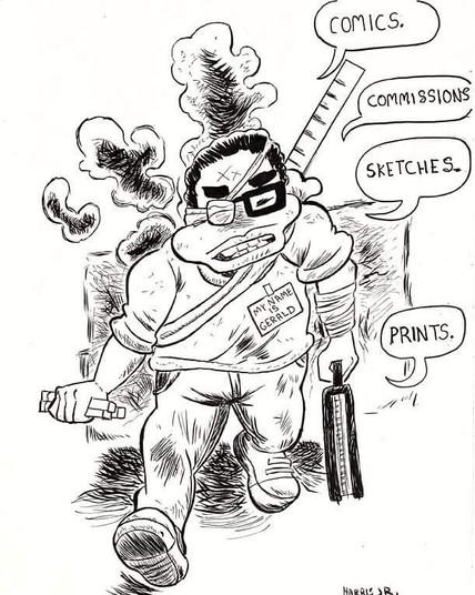 """Gerald Benton"" Drawing"