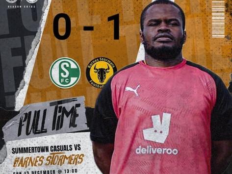 Match Report  |  Summerstown Casuals 0 -1 Barnes Stormers