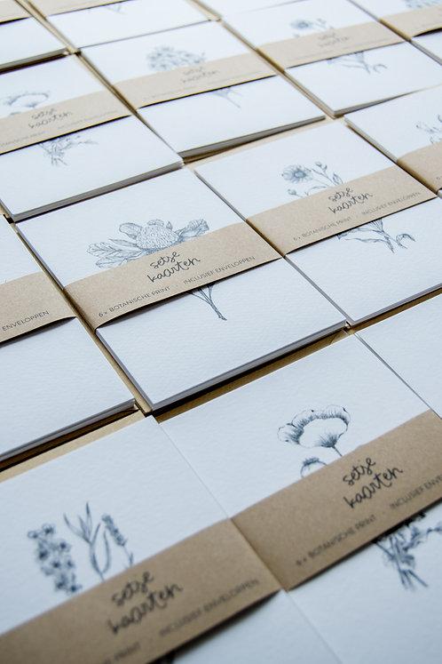 Setje wenskaarten met enveloppen