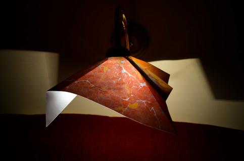 handmade paper lamp