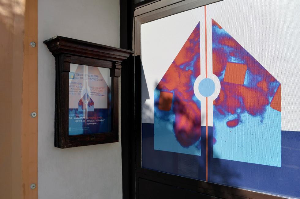 The Sky Above Szentendre exhibition design