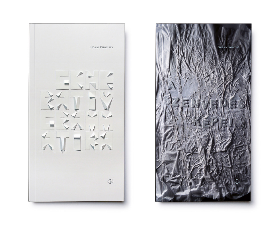 Mérleg könyvek cover designs - Chomsky, Sontag