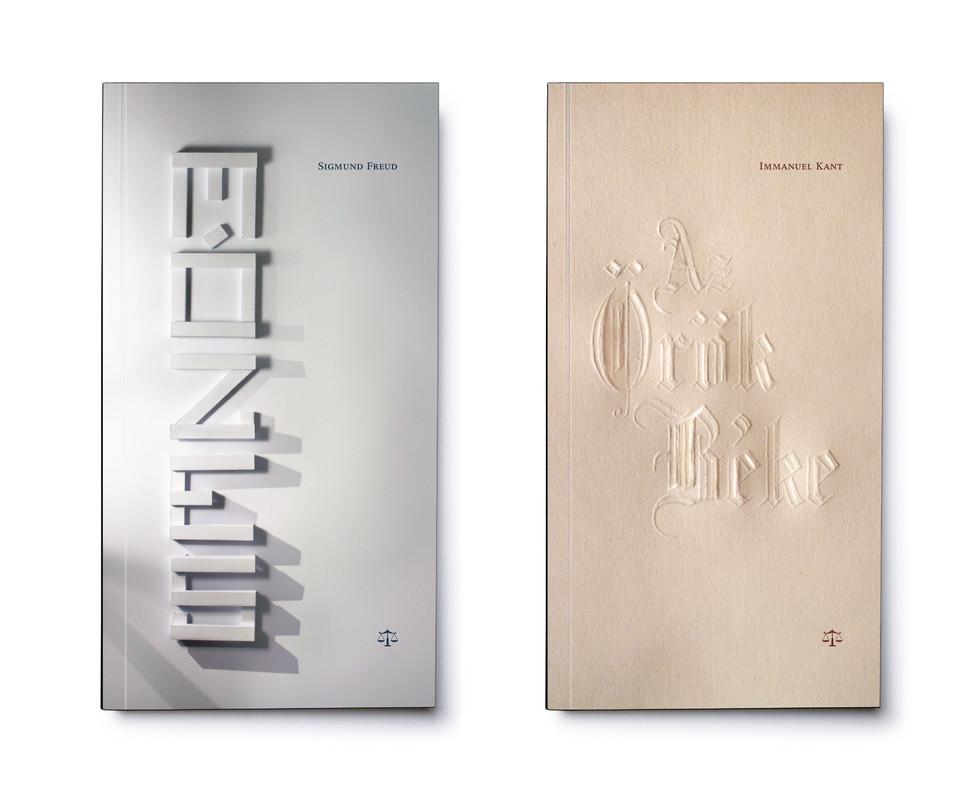 Mérleg könyvek cover designs - Freud, Kant