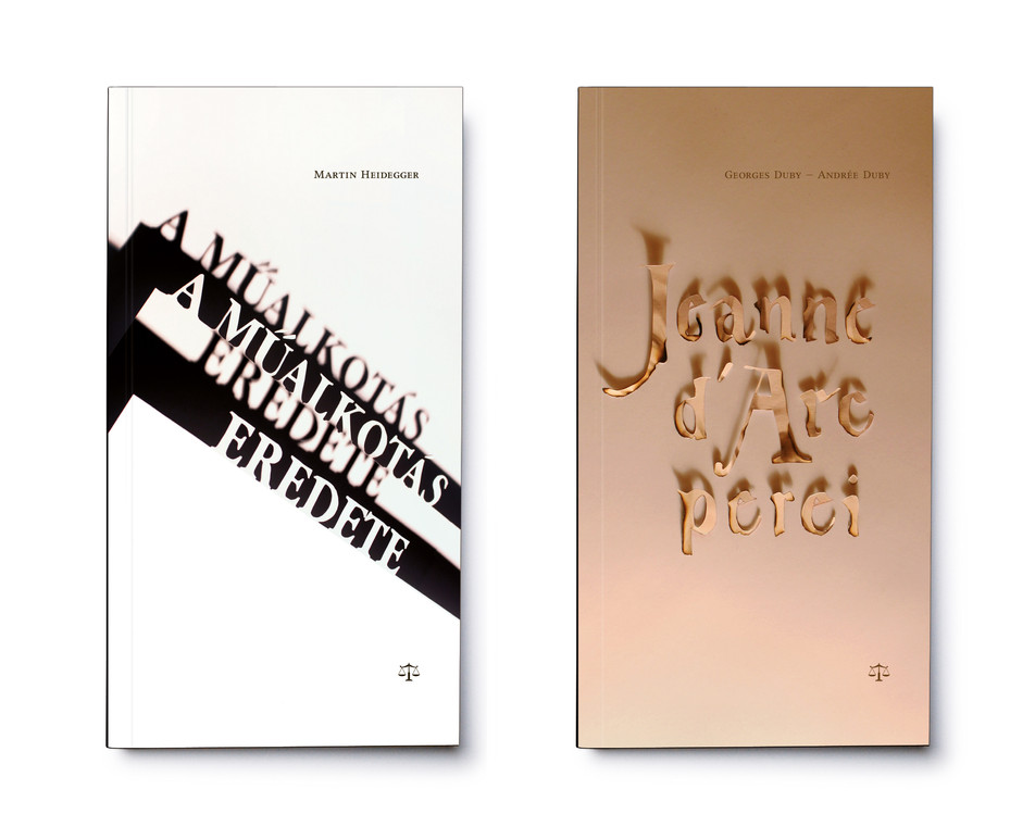 Mérleg könyvek cover designs - Heidegger, Duby