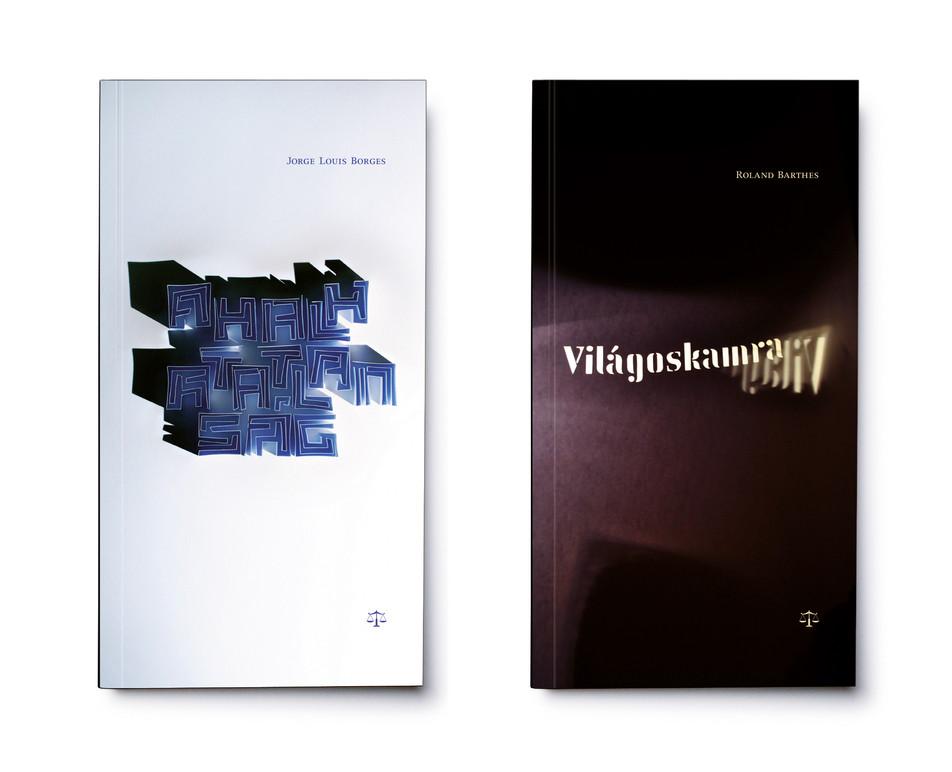Mérleg könyvek cover designs - Borges, Barthes