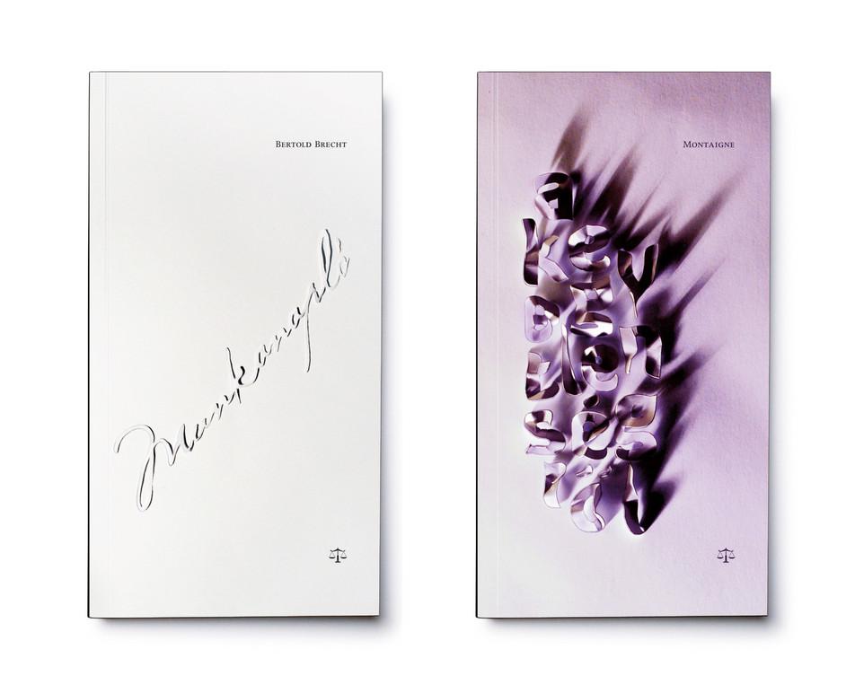 Mérleg könyvek cover designs - Brecht, Montaigne