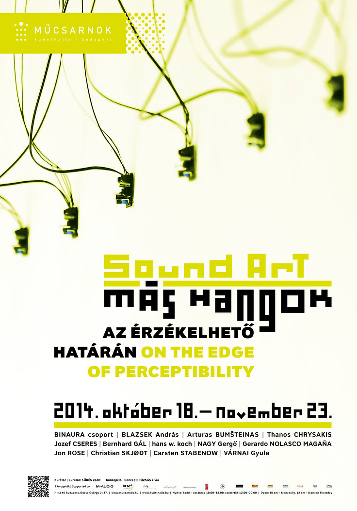 Sound art exhibition poster