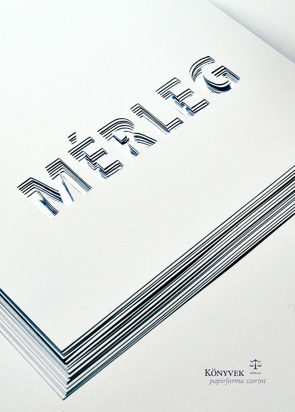 Mérleg könyvek poster design