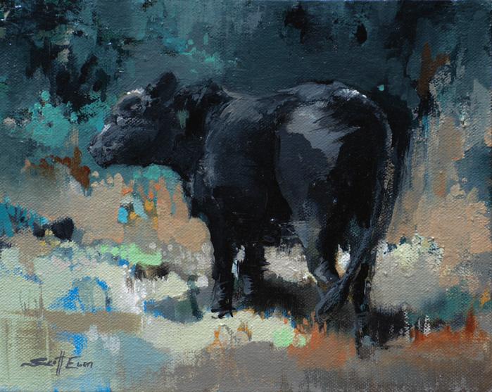 Plein Air Cow