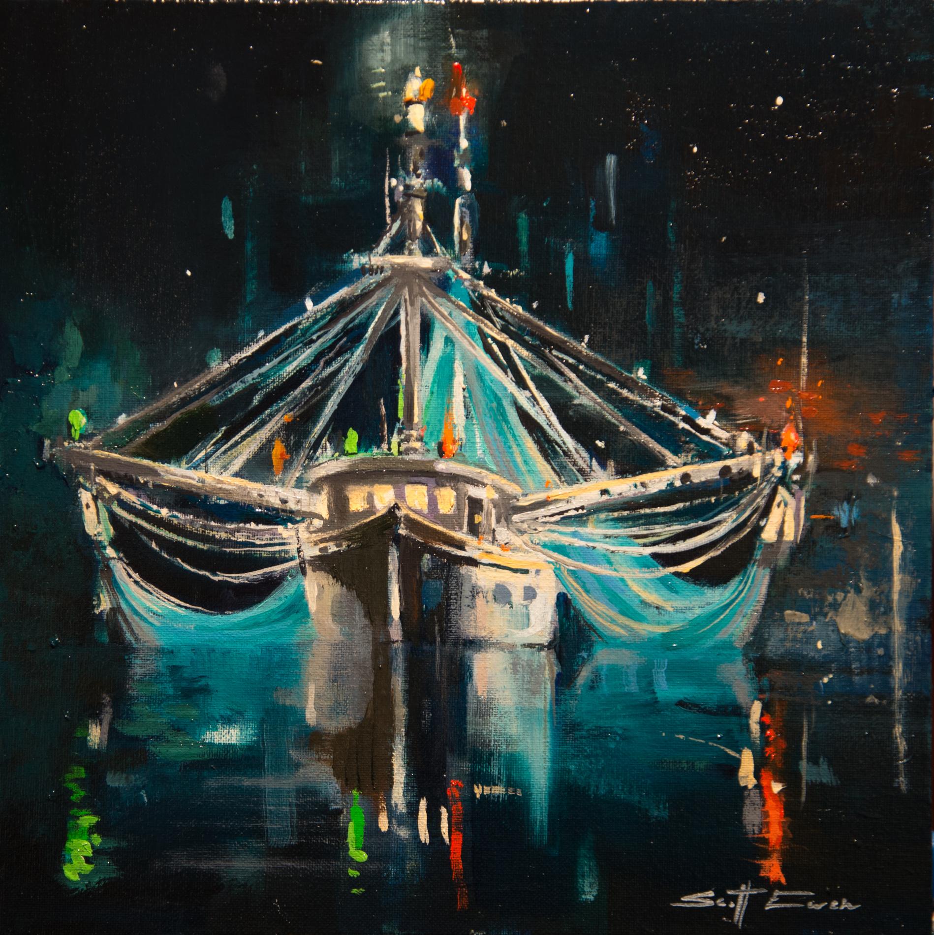 Trawler at Night #1