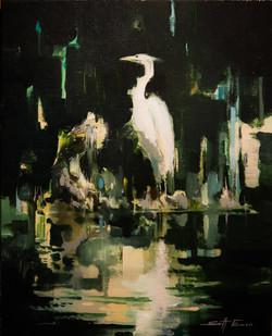 Standing Egret