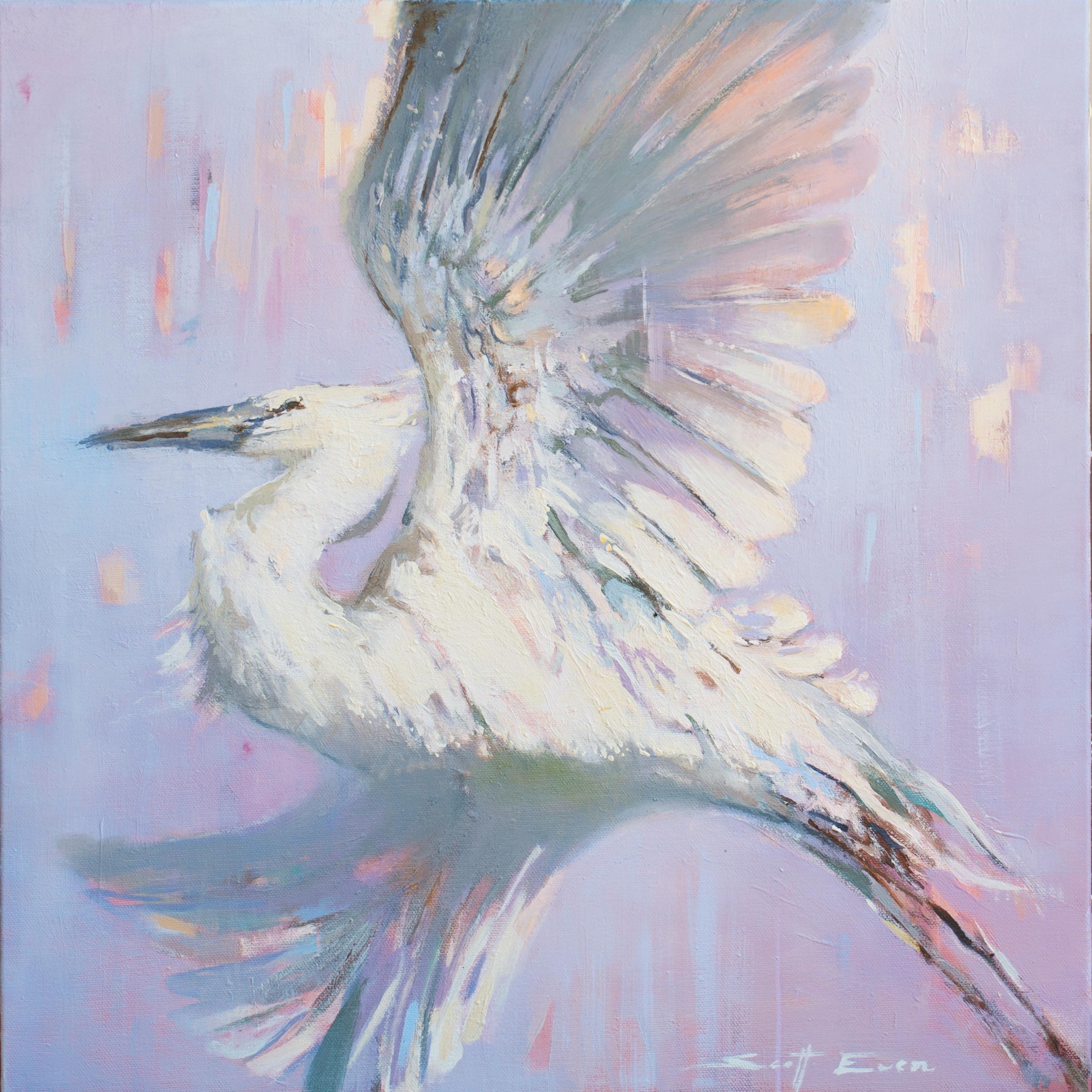 Lifting Egret