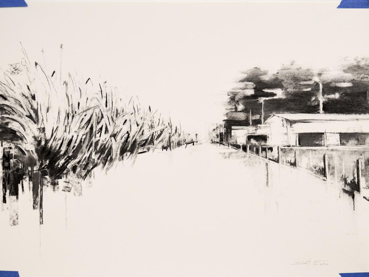 Charcoal Landscape 3