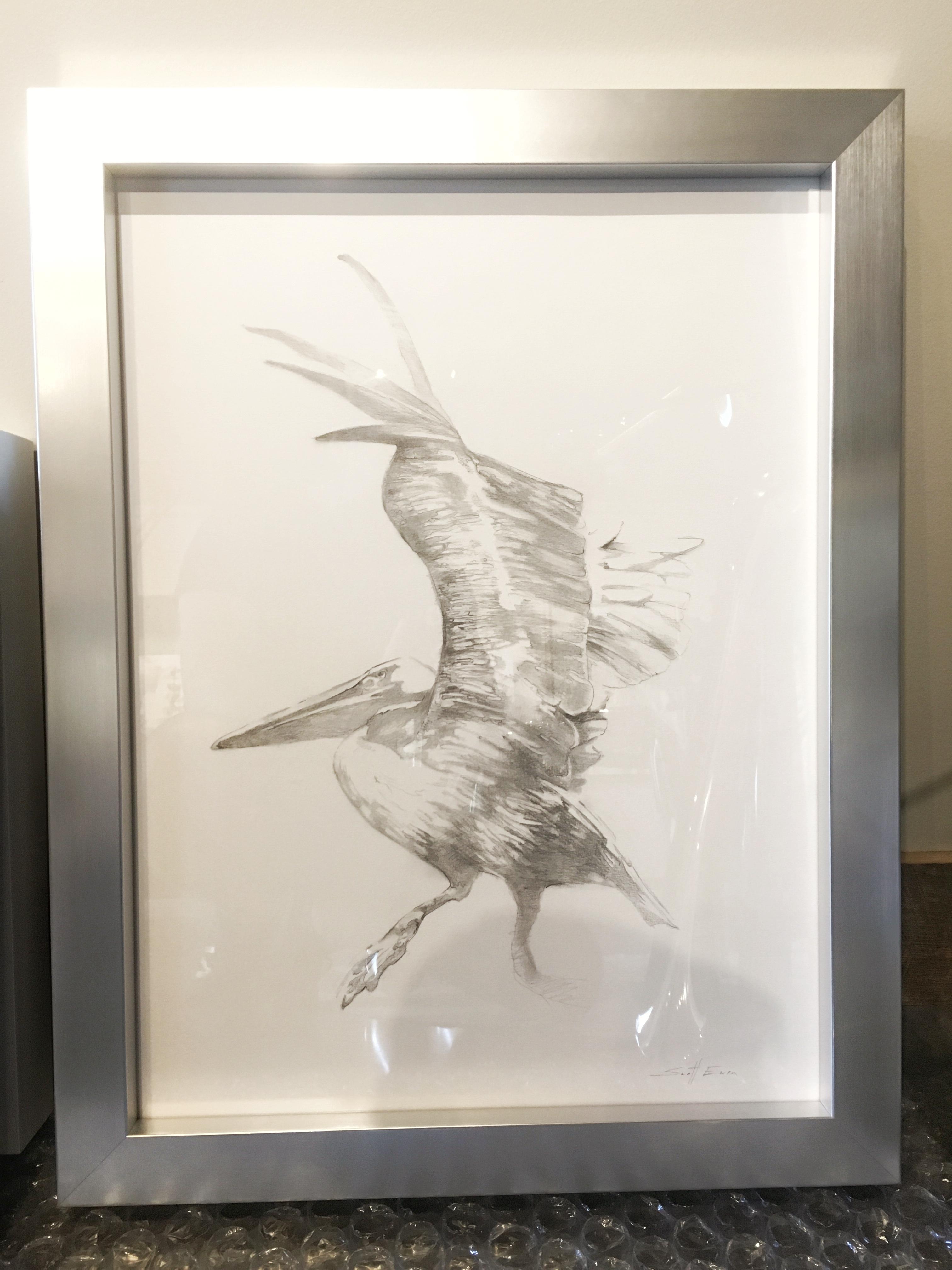 Facing Pelicans (Frame)