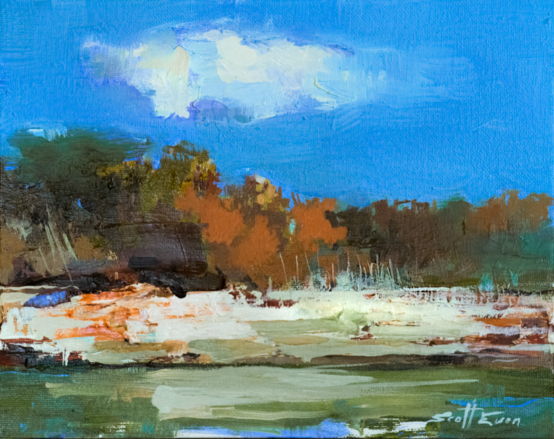 Pedernales River #3 _ 8_ x 10_ _ Oil on canvas