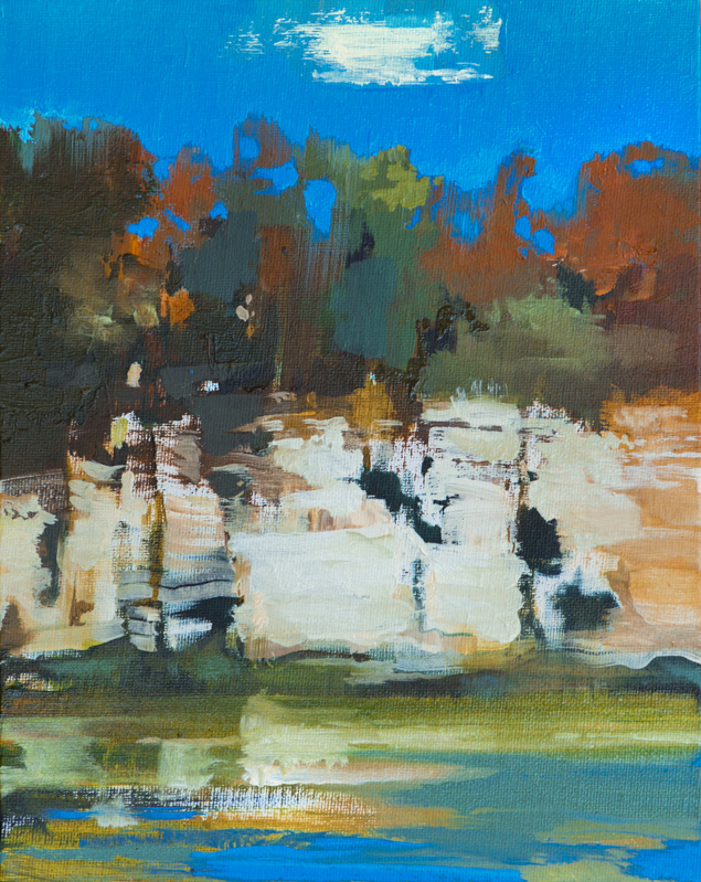 Pedernales River #1 _ 8_ x 10_ _ Oil on canvas