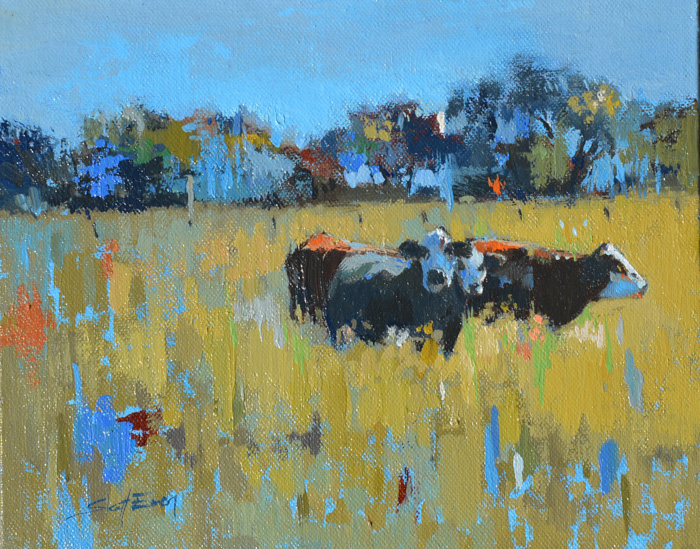 Study for Old Lockhart Cows