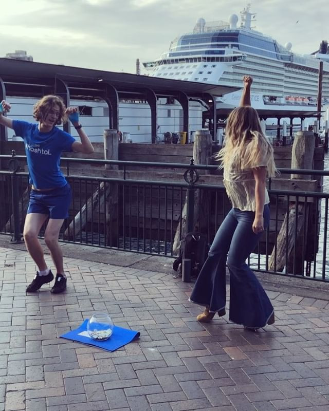 Joined in on the dancing fun in Sydney