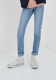 IKKS-JEAN SKINNY LIGHT BLUE GARCON -XS29