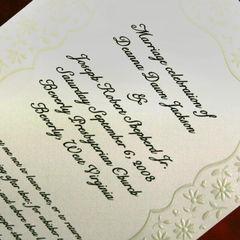 A wedding program