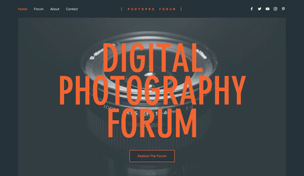 Konst & kultur website templates – Forum för digitala fotografier