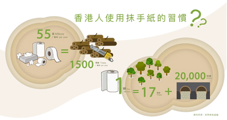 香港人使用抺手紙的習慣