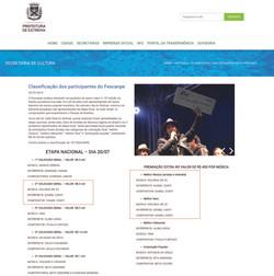 Classificação dos participantes do Fescanpe