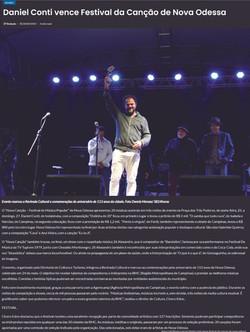 [2018] Daniel Conti vence Festival da Canção de Nova Odessa