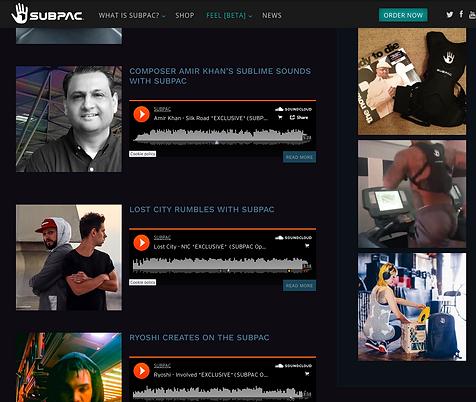 Amir Khan SubPac music creator