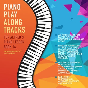 Play along tracks to Alfred's Piano Lesson Book 1A