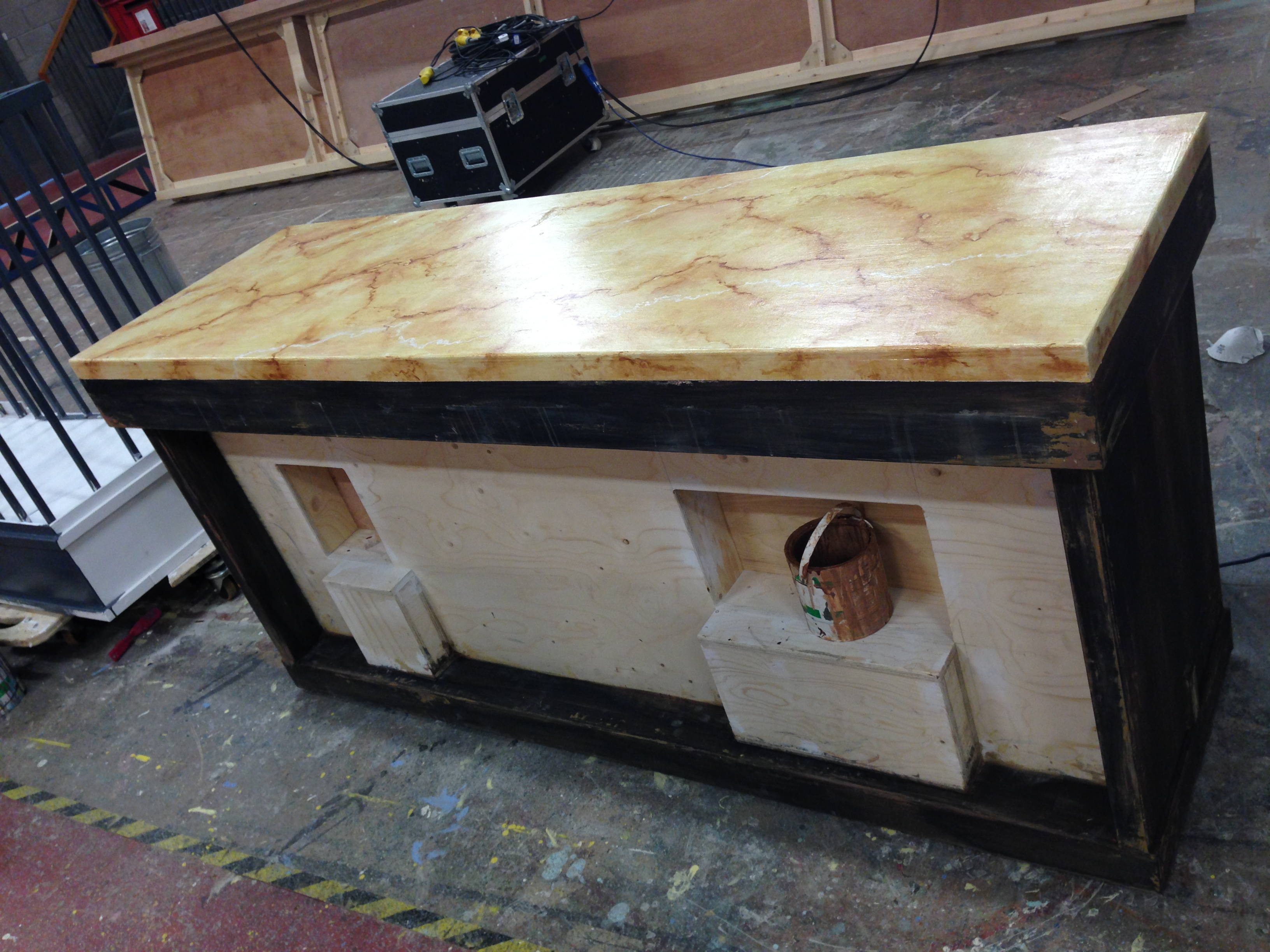 Painted Marble and Wood Effect