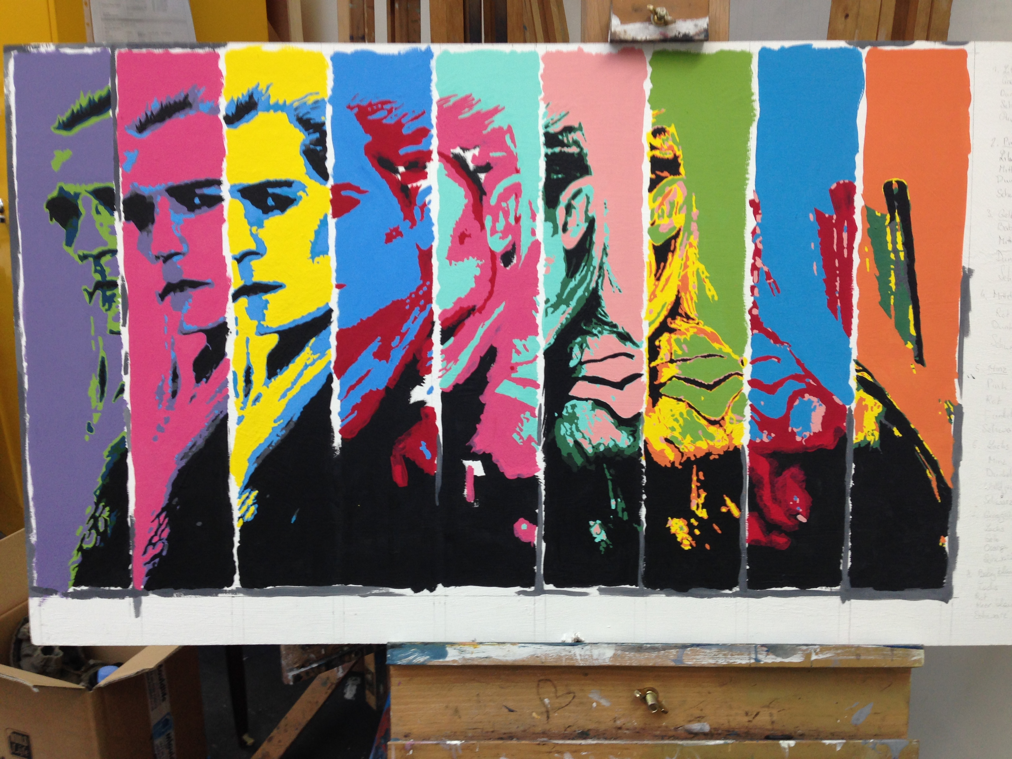 Legolas Pop Art Malerei