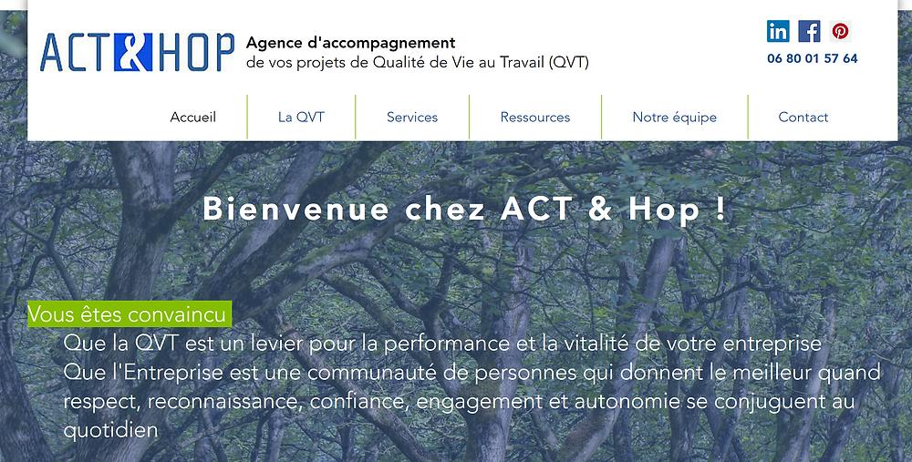 Découvrir le site ACT & Hop