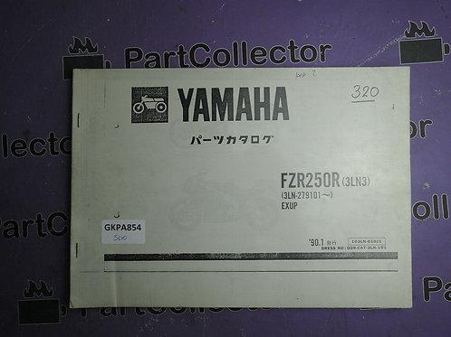 1987 YAMAHA FZR 250 BOOK PARTS CATALOGUE 103LN-010J1