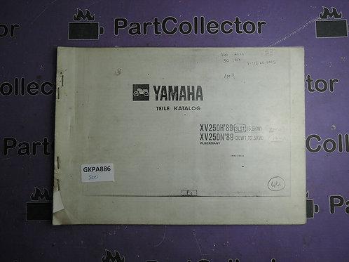 1989 YAMAHA XV 250H-N BOOK PARTS CATALOGUE 193LS-332C1