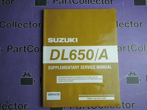 2005 SUZUKI DL650 SERVICE MANUAL 99501-36130-01GREK
