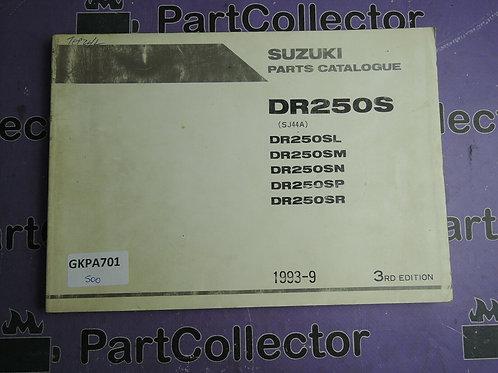 1993-9 SUZUKI DR250S PARTS CATALOGUE 9900B-28027-020