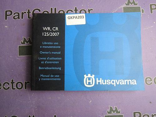 2007 HUSQVARNA WR-CR 125 OWNER S MANUAL 8000A8013