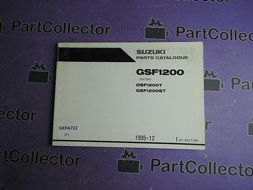 1995-12 SUZUKI GSF1200 PARTS CATALOGUE 9900B-30104