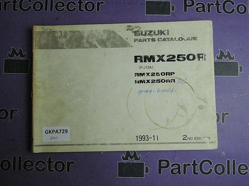 1993-11 SUZUKI RMX250R PARTS CATALOGUE 9900B-28031-010