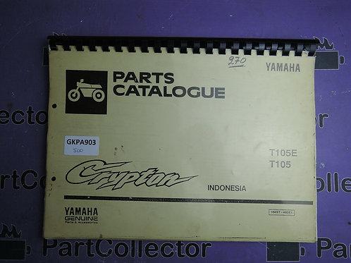 1996 YAMAHA T105E T105  BOOK PARTS CATALOGUE 164ST-460E1 INDONESIA
