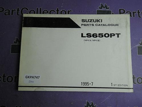 1995-7 SUZUKI LS650PT PARTS CATALOGUE 9900B-30101