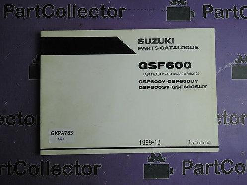 1999-12 SUZUKI GSF600 PARTS CATALOGUE 9900B-30133
