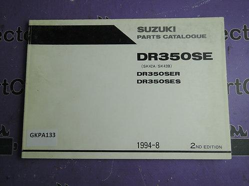 SUZUKI 1994-1998  PARTS CATALOGUE DR350SER SES 9900B-30093-010